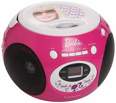 Barbie Radio, FM, CD, pink, Kinderradio, 3,5mm, Batterie, Strom, neu & rosa