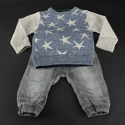 NEXT Baby Jungen Boys 2 Tlg Jeans Pulli Outfit Kombi 3-6 m 62/68 England