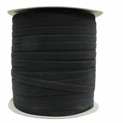 "Jef 1"" Loop Black Tape 100% Nylon Sew On 1 Roll 500 Meters 541 Yds"