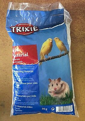 Canary Nesting Material Finch Budgie etc Nest Material & Hamsters TRIXIE 50g