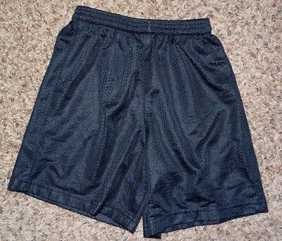 boys girls A4 youth black athletic shorts size small ~excellent~