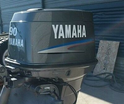 Yamaha 90hp two stroke Outboard Decal Sticker Kit Marine vinyl  70 80 or 90 hp