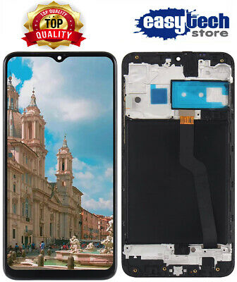 Display LCD + Touch Screen Con Frame Amoled SAMSUNG  A10 SM-A105FN VETRO NERO