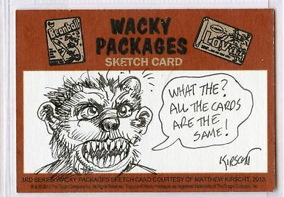 2013 Topps Wacky Packages 3rd Series  Sketch Card by Matthew Kirscht Puzzle Set