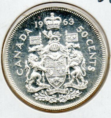 PROOF LIKE 1963 Canada 50  cent piece NICE higher end type coin