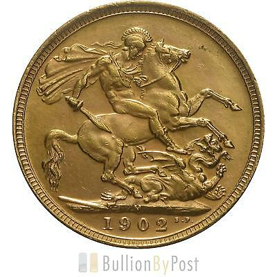 1902 Gold Sovereign - King Edward VII - M