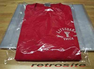 "9"" x 12"" Poly Clear Plastic T-Shirt Apparel Bags 1 Mil 2"" Back Flap Lock 10-1000"