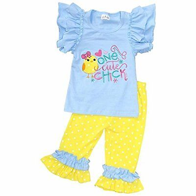 "Unique Baby Girls ""One Cute Chick"" Easter Outfit Outfit"