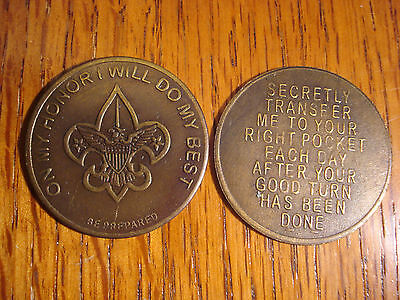 Boy Scout Pocket Good Luck Token Old Western
