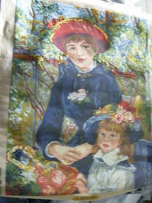 Royal Paris Sur La Terrasse (Renoir) Needlepoint CANVAS-Partially Started #175 2
