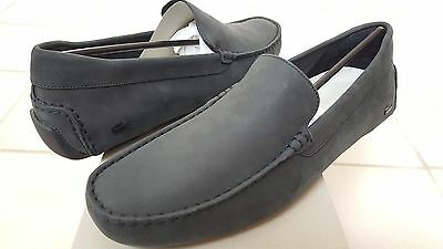 768187dcc3be6 Lacoste Piloter 316 1 Men's Casual Nubuck Leather Loafer Shoes US11/EUR44.5  BLK