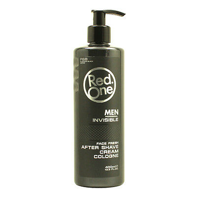 RedOne Cream Cologne Invisible  Aftershave Balsam Black 400ml (100ml/2,20€)