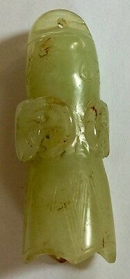 Chinese Carved Jade Buddhist Ritual Bell Incised Ram Head Reliefs