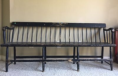 Virginia 1860 Era Pine Deacon Bench
