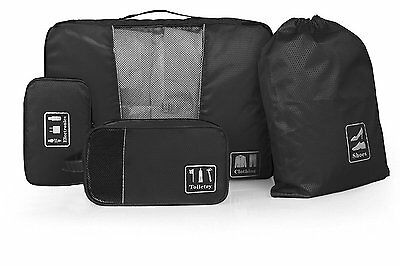 BAGSMART 4PCS Packing Cubes for Carry on Luggage Travel Accessories, Black