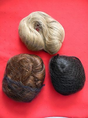 Unbranded Doll Wigs, Lot of 11, Blonds, Black, Brown & Strawberry, Various Sizes