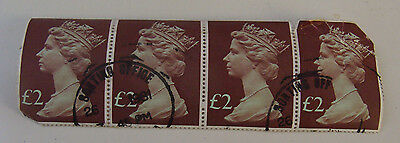 Queen Elizabeth II 2 Pound used stamps UK