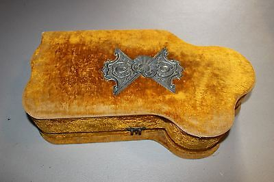 Antique Victorian Gold Velvet Box