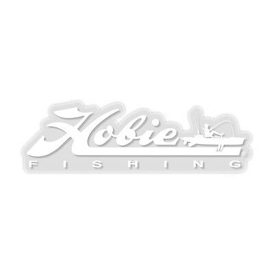 "12"" HOBIE Fishing Decal WHITE #12453025 Kayak Boat Trailer Vinyl Sticker"