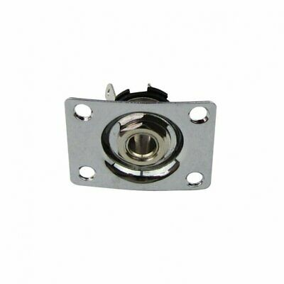 Chrome Universal Electric Guitar Output Jack Plate Rectangle for Tele Ibanez