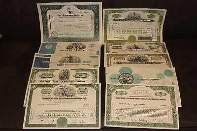Lot of 10 Vintage Stock Certificates Colorful Engraved Scripophily #3 Retail $90