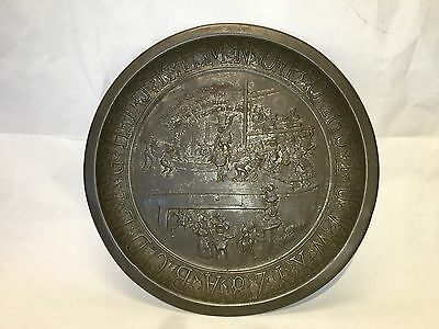 Antique Palmer Cox Brownies Alphabet Tin Plate - Patent date Feb 11 1896