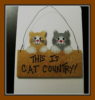 This Is Cat Country Wooden Sign Or Ornament With Hanger