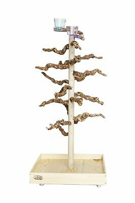 Exotic Grape Wood Fully Loaded Xerch Perch - LG |bird gym,parrot play stand| PC