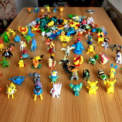 Random 24pcs/set Pikachu Pokemon Go Mini Action Figure Toy 2-3cm Pocket Monster