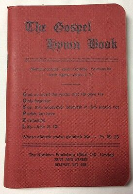 Vintage The Gospel Hymn Book Red Softcover 1977 Belfast Sunday School Supply