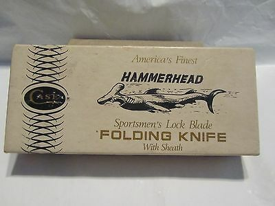 "Vintage  CASE XX No.P159 LSSP 2 Dot ""Hammerhead"" Knife + Sheath + Box + Papers"
