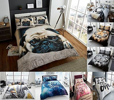 Luxury Designs 3D Animal Printed Effected Duvet / Quilt Cover + Pillow Cases Bed