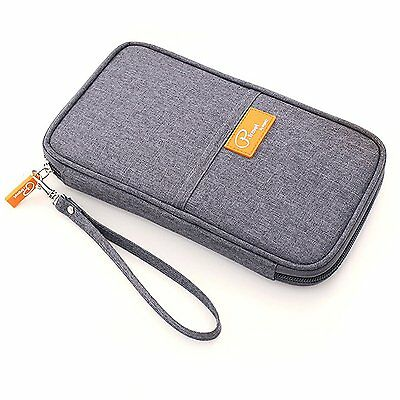KAIL Travel Wallet Passport Holder Credit ID Card Purse Case Document Organiser