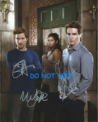Being Human Usa - Hand Signed Photo With Coa - All 3 Main Cast Original Photo