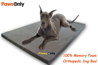 Extra Large Grey Comfort Orthopedic Memory Foam Dog Bed