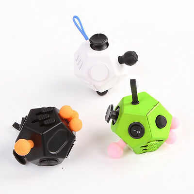 New Sale! Magic Fidget Block Cube Children Kids Toy Adult Fun Stress Relief Cube
