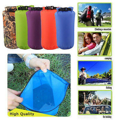 Waterproof Drawstring Storage Stuff Sack Dry Bag Outdoor Travel Boating 8L/15L