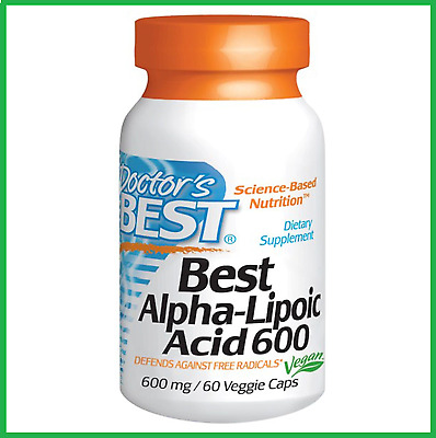 Doctor's Best, Alpha-Lipoic Acid, 600 mg, 60 Veggie Caps - AUS STOCK FAST SHIP