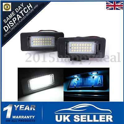 2x LED License Number Plate Light Canbus For Audi A4 S4 B8 A5 S5 Q5 TT VW PASSAT