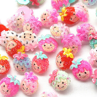 New 10/50pcs Baby Girl Resin Buttons 20mm Sewing Craft Back Hole