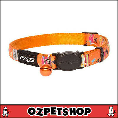 Rogz NeoCat Cat Collar - Orange Candy - 11mm