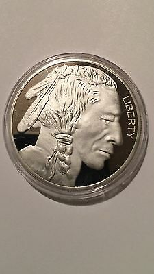 1 Troy Oz FINE .999 SILVER PLATED LIBERTY/ INDIAN HEAD/ BUFFALO COLLECTORS COIN