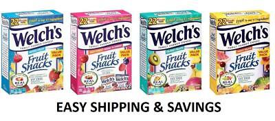 Welch's Fruit Snacks 22 Count Fat Free Real Fruit Pouches Pick One Free Shipping