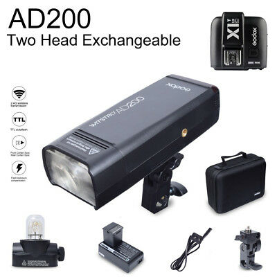 Godox AD200 200W 2.4G TTL HSS Flash Speedlite with X1T-C Transmitter for Canon