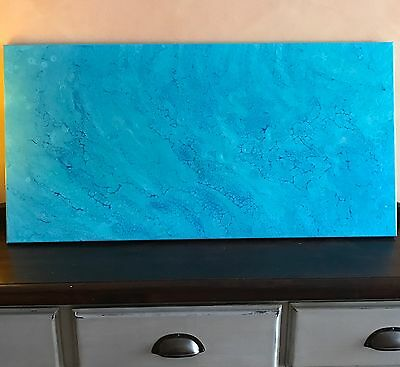 Modern Original Abstract Canvas Painting Blue Dee's Funky Art