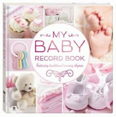 My Baby Record Book Hardcover w Nursery Rhymes Keepsake Shower Gift - Girls PINK