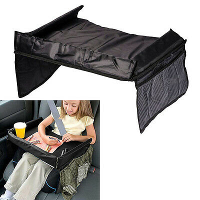 Portable Child Snack Play Tray for Car Seat Plane and Buggy Toddler Travel Black