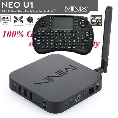 Minix Neo U1 Streaming Media Player Android 5.1 Kodi Smart TV Box  I8 Keyboard