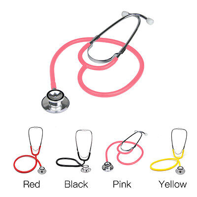 Professional Brand New Double Dual Head Pink Stethoscope In Box