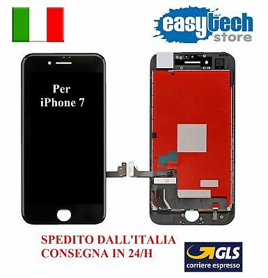 Touch Screen + Lcd Display Retina + Frame Per Apple Iphone 7 Vetro Schermo Nero